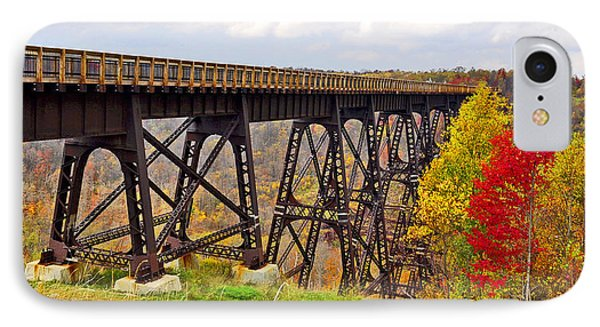 Skywalk Kinzua Bridge State Park Mckean County Pennsylvania IPhone Case by A Gurmankin