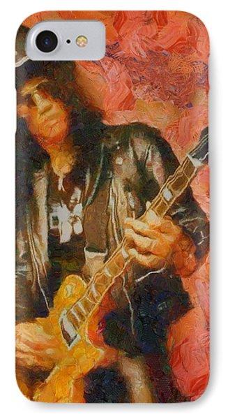 Slash Shredding On Guitar IPhone Case