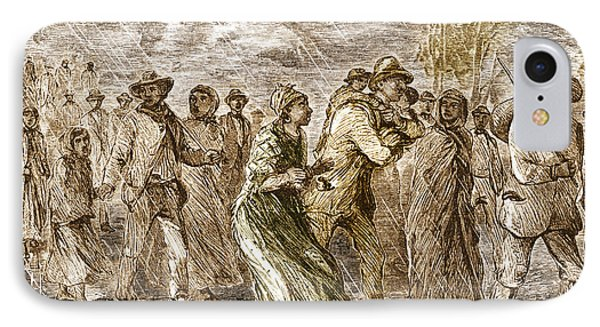 Slaves Escaping Via Underground Railroad IPhone Case by Science Source