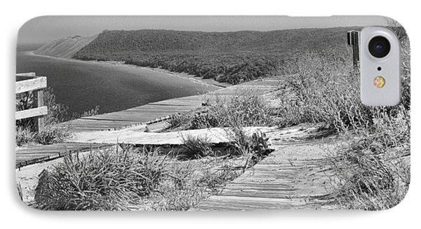 Sleeping Bear Dunes Path Black And White IPhone Case