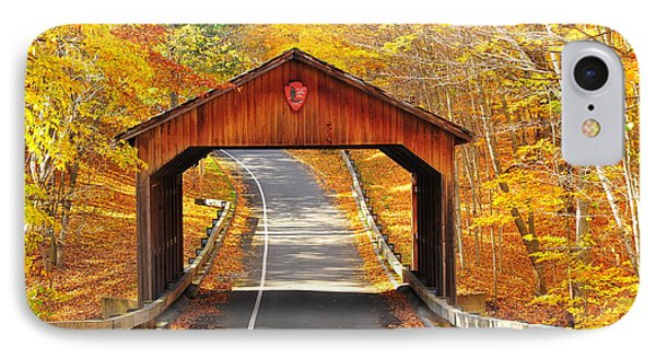 Sleeping Bear National Lakeshore Covered Bridge IPhone Case by Terri Gostola