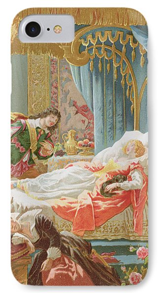 Sleeping Beauty And Prince Charming IPhone Case by Frederic Lix