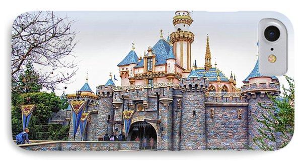 Sleeping Beauty Castle Disneyland Side View IPhone Case
