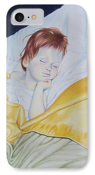 IPhone Case featuring the mixed media Sleeping Beauty by Constance Drescher