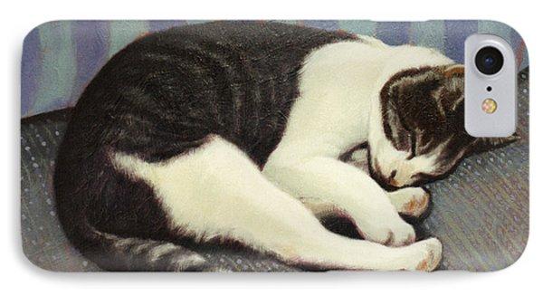 Sleeping Cat Phone Case by Blue Sky