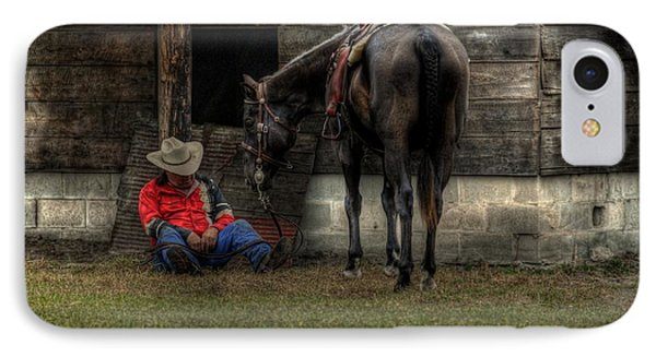 IPhone Case featuring the photograph Sleeping Cowboy by Donald Williams