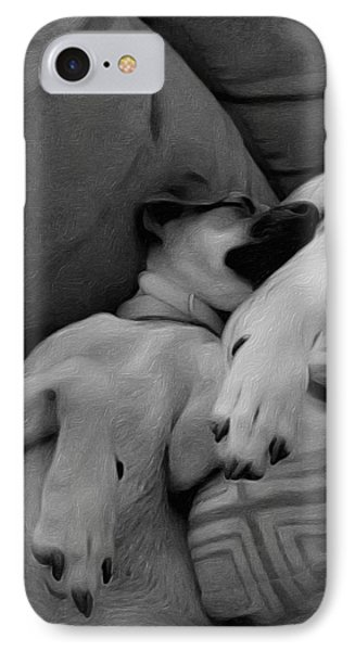 Sleeping Chihuahua IPhone Case by Leo Koach
