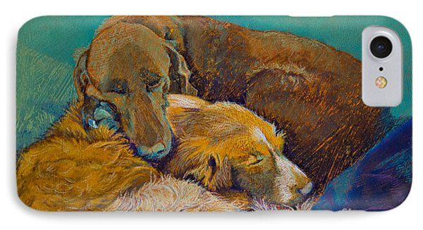 Sleeping Double In A Single Bed IPhone Case by Tracy L Teeter