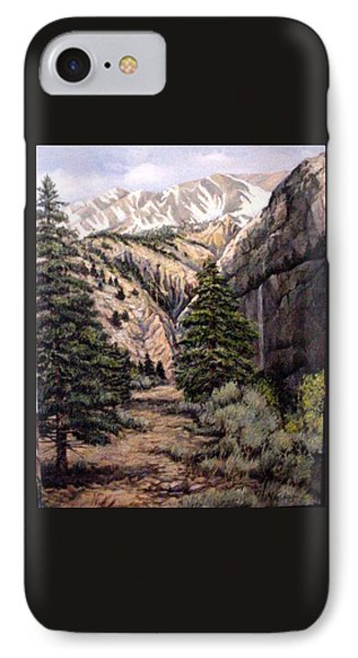 IPhone Case featuring the painting Sleeping Faces In The Rock by Donna Tucker
