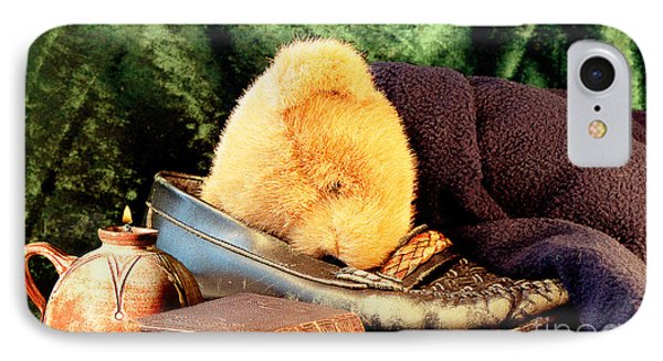 Sleeping Teddy IPhone Case by Louise Heusinkveld