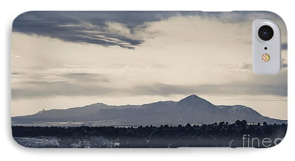 Sleeping Ute Mountain IPhone Case by Janice Rae Pariza