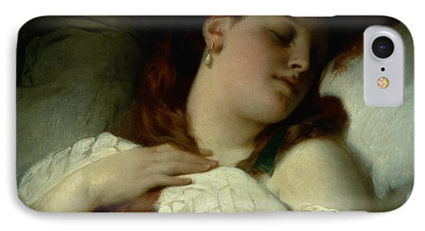 Sleeping Woman IPhone Case