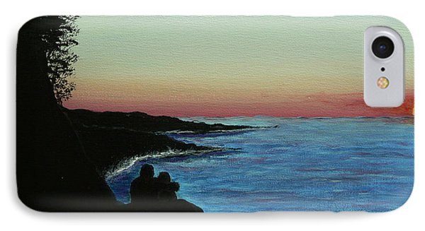 IPhone Case featuring the painting Sleepy Blue Ocean by Dan Wagner