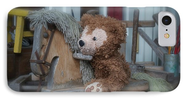 IPhone Case featuring the photograph Sleepy Cowboy Bear by Thomas Woolworth