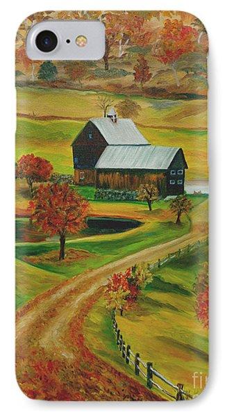 Sleepy Hollow Farm IPhone Case by Julie Brugh Riffey
