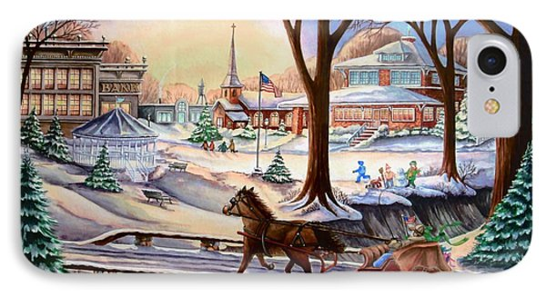 Sleigh Chase Phone Case by Carol Sabo