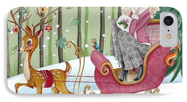 Sleigh Ride IPhone Case by Caroline Bonne-Muller