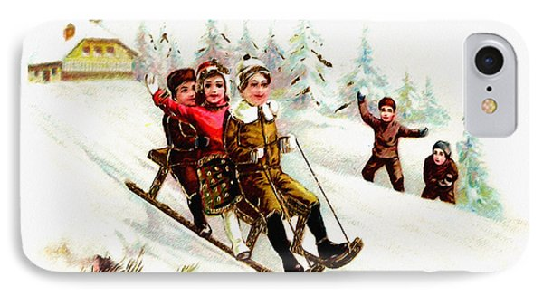 Sleigh Ride IPhone Case by Bill Cannon