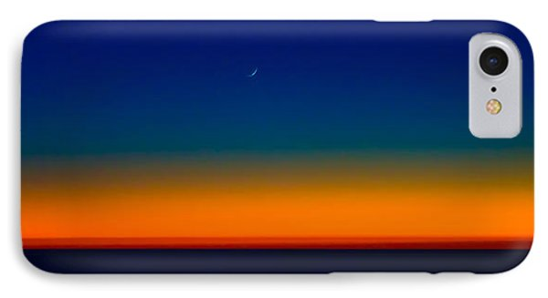IPhone Case featuring the photograph Slice Of Moon In The Night Sky by Don Schwartz
