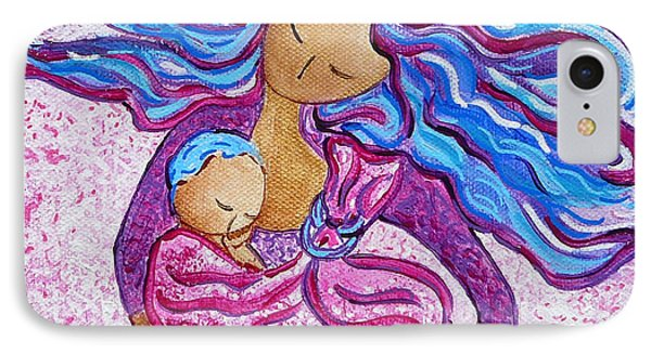 Sling Dance Motherhood Babywearing Dance Artwork IPhone Case by Gioia Albano