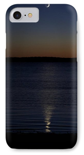 Sliver - A Crescent Moon On The Lake IPhone Case by Jane Eleanor Nicholas