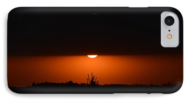 Sliver Of A Sunset IPhone Case by Dacia Doroff