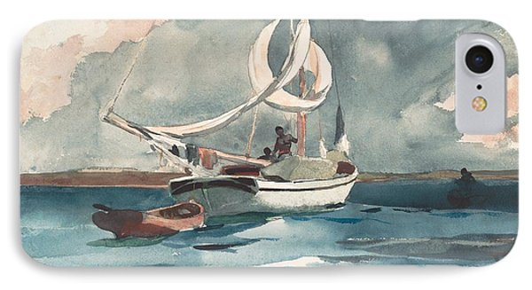 Sloop  Nassau Bahamas IPhone Case by Winslow Homer