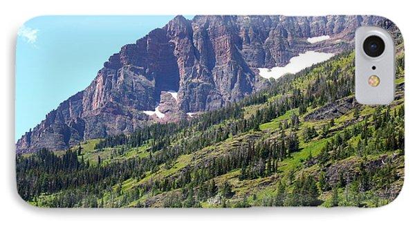 Sloping Mountain At Two Medicine Lake Phone Case by Carol Groenen