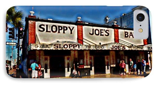 Sloppy Joe's Bar Phone Case by Joan  Minchak