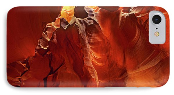 Slot Canyon Formations In Upper Antelope Canyon Arizona IPhone Case by Dave Welling