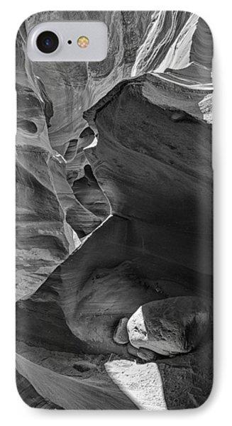 Slot Canyons In Black And White  Phone Case by Saija  Lehtonen