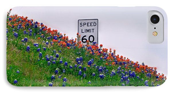 Slow Down And Smell The Bluebonnets IPhone Case