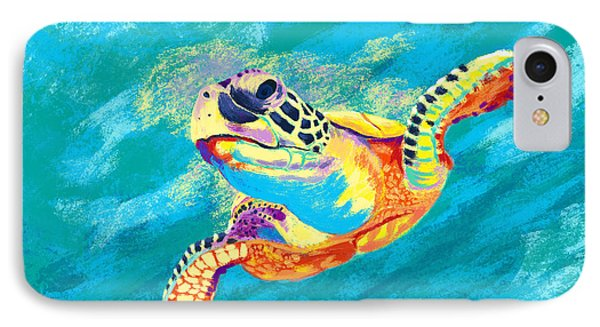 Turtle iPhone 7 Case - Slow Ride by Kevin Putman
