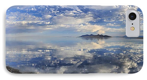 IPhone Case featuring the photograph Slow Ripples Over The Shallow Waters Of The Great Salt Lake by Sebastien Coursol