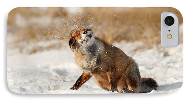 Slush Puppy Red Fox In The Snow IPhone Case by Roeselien Raimond