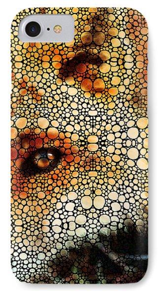 Sly Fox - Mosaic Art By Sharon Cummings IPhone Case by Sharon Cummings