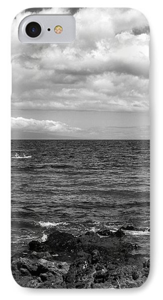 Small Boat On A Big Ocean IPhone Case