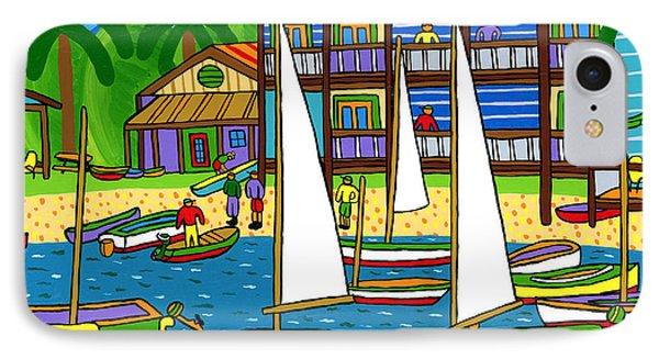 Small Boat Regatta - Cedar Key Phone Case by Mike Segal