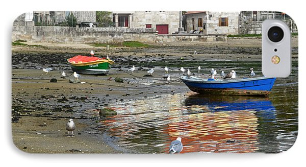 Small Boats And Seagulls In Galicia IPhone Case by RicardMN Photography