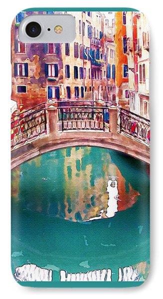 Small Bridge In Venice IPhone Case by Marian Voicu