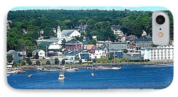 Small Coastal Town America IPhone Case by Tara Potts