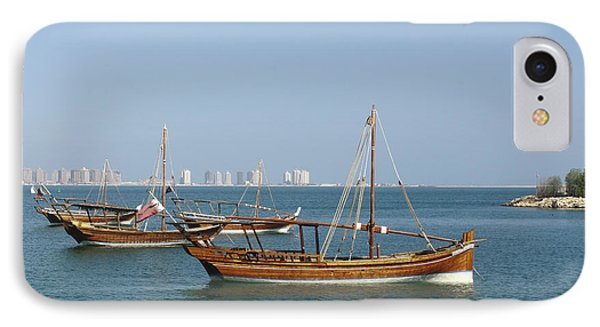 Small Dhows And Pearl Development IPhone Case by Paul Cowan