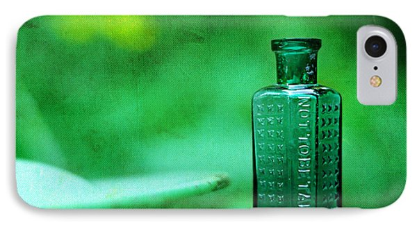 Small Green Poison Bottle IPhone Case by Rebecca Sherman