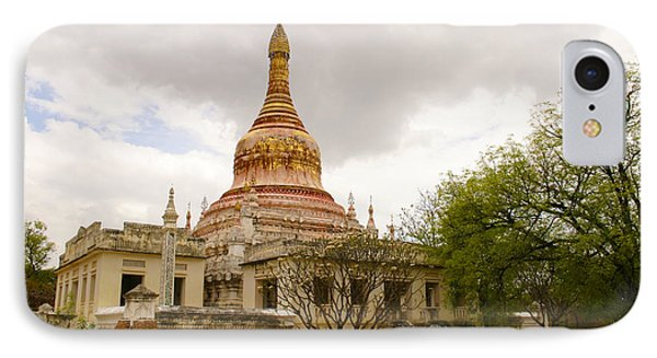 Small Monastery Near West Pwazaw Village Bagan Burma IPhone Case by Ralph A  Ledergerber-Photography