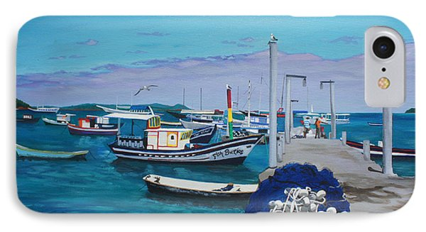 Small Pier In The Afternoon-buzios Phone Case by Chikako Hashimoto Lichnowsky