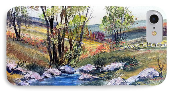 IPhone Case featuring the painting Small Pond by Dorothy Maier