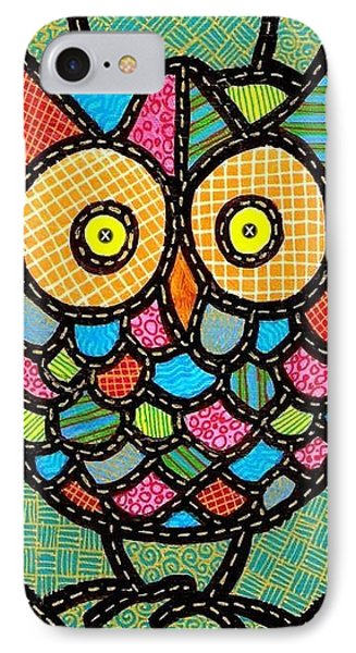 Small Quilted Owl Phone Case by Jim Harris