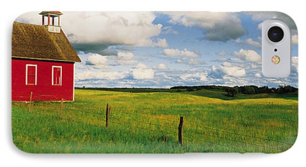 Small Red Schoolhouse, Battle Lake IPhone Case by Panoramic Images