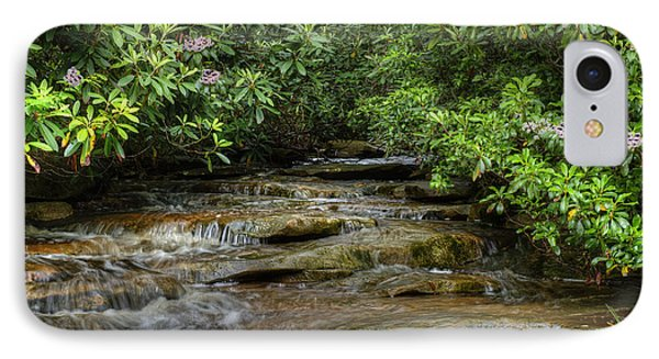 Small Stream In West Virginia With Mountain Laurel Phone Case by Dan Friend