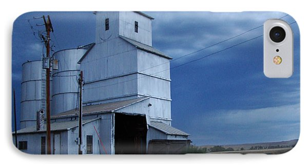 IPhone Case featuring the photograph Small Town Hot Night Big Storm by Cathy Anderson